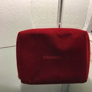 Chanel makeup bag